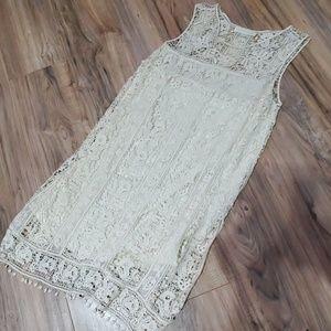 Lace Crochet cream dress